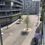 Asphalt and concrete city: Seestadt in Vienna Austria