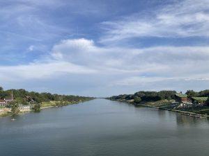 The river Donau / Danube in Vienna Austria