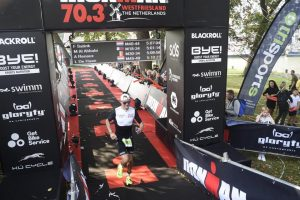 Ironman 70.3 West-Friesland - crossing the finish line