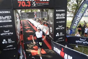 Ironman 70.3 Westfriesland - crossing the finish line. Painful and disappointed
