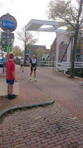 Ironman 70.3 West-Friesland - walking past my family