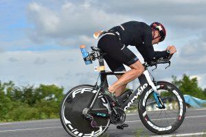 Challenge The Championship triathlon - hammering hard on the bike