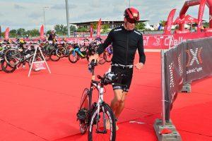 Challenge The Championship triathlon - transition swim to bike