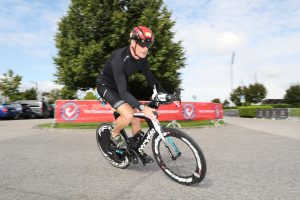 Challenge The Championship triathlon - on the bike to the highway