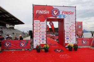 Challenge The Championship triathlon - Finish line!