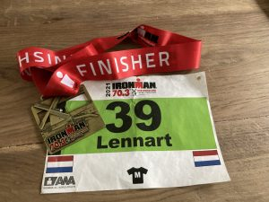 Ironman 70.3 Westfriesland - Finisher Medal and start number